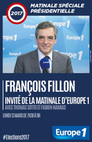 François Fillon, invité de la matinale