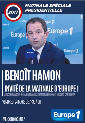 Benoît Hamon, invité de la matinale