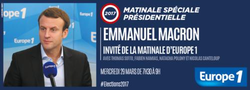 Emmanuel Macron, invité de la matinale