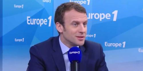 Emmanuel Macron sur Europe 1