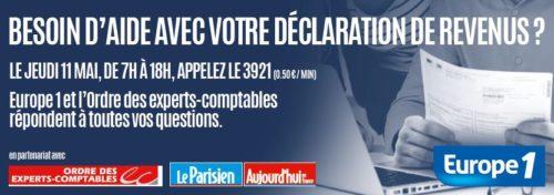 Le Parisien / Aujourd'hui en France et l'Ordre des experts-comptables,  Journée impôts