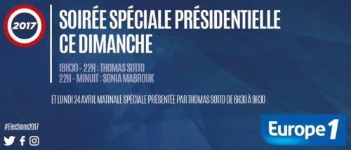 Soirée spéciale présidentielle du 23 avril