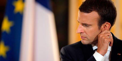 Emmanuel Macron travaille à la mise en place de listes transnationales pour les élections européennes de 2019.@ STEPHANE MAHE / POOL / AFP
